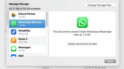 Access WhatsApp backup from icloud