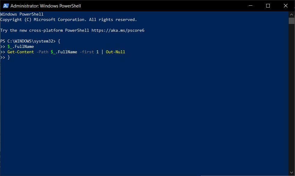 Add Code in Windows Powershell