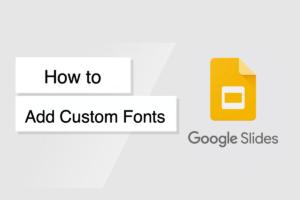 How to Install Custom Fonts on Google Slide?