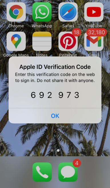 Apple ID Verification Code