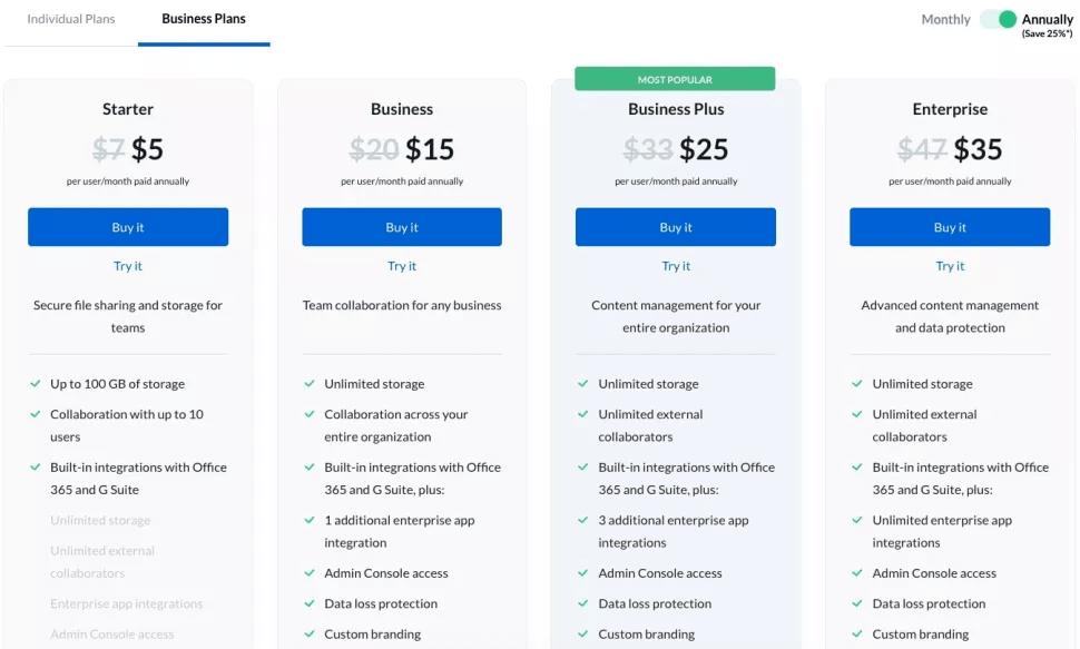 Box Pricing