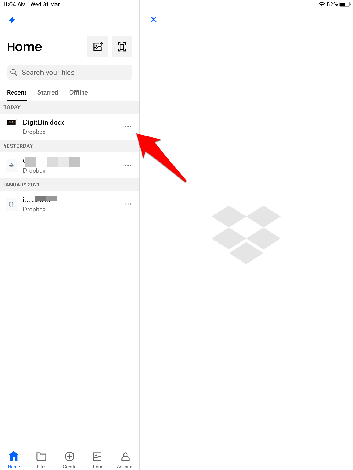 Click on the 3 Horizontal Dots for More Options