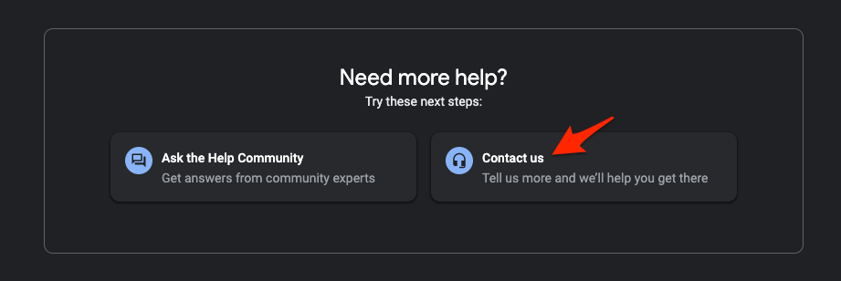 Contact Google Drive Support