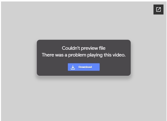 Couldn't Preview Video File Google Drive