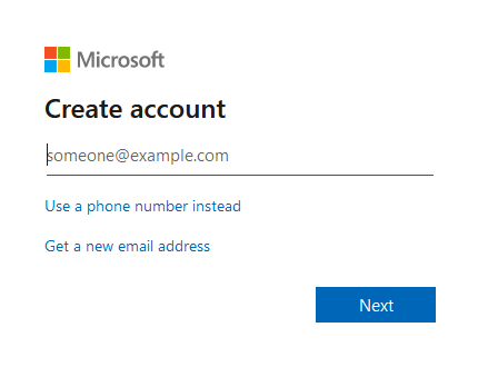 Create Email ID for OneDrive