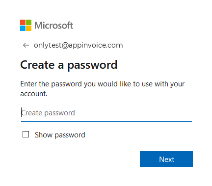 Create Password on OneDrive