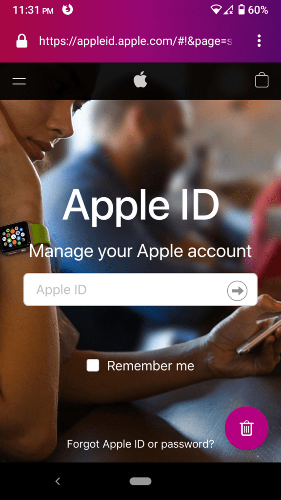 Create an Apple ID on your Android device - 2