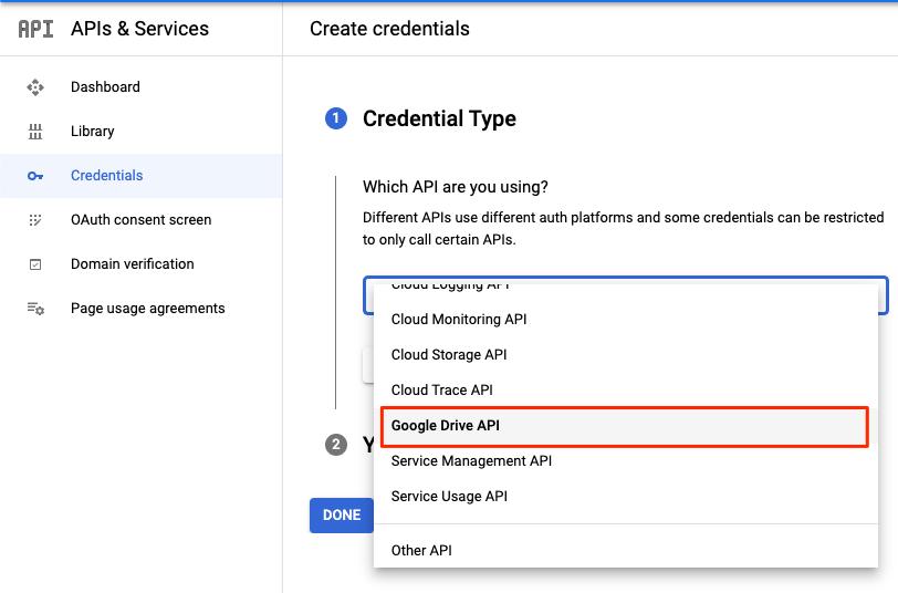 Credential_Type_Google_Drive_API