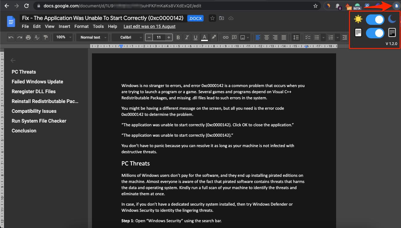 Dark Mode Complete Page