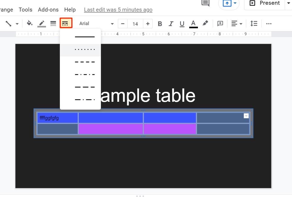Dashed Lines Google Slides