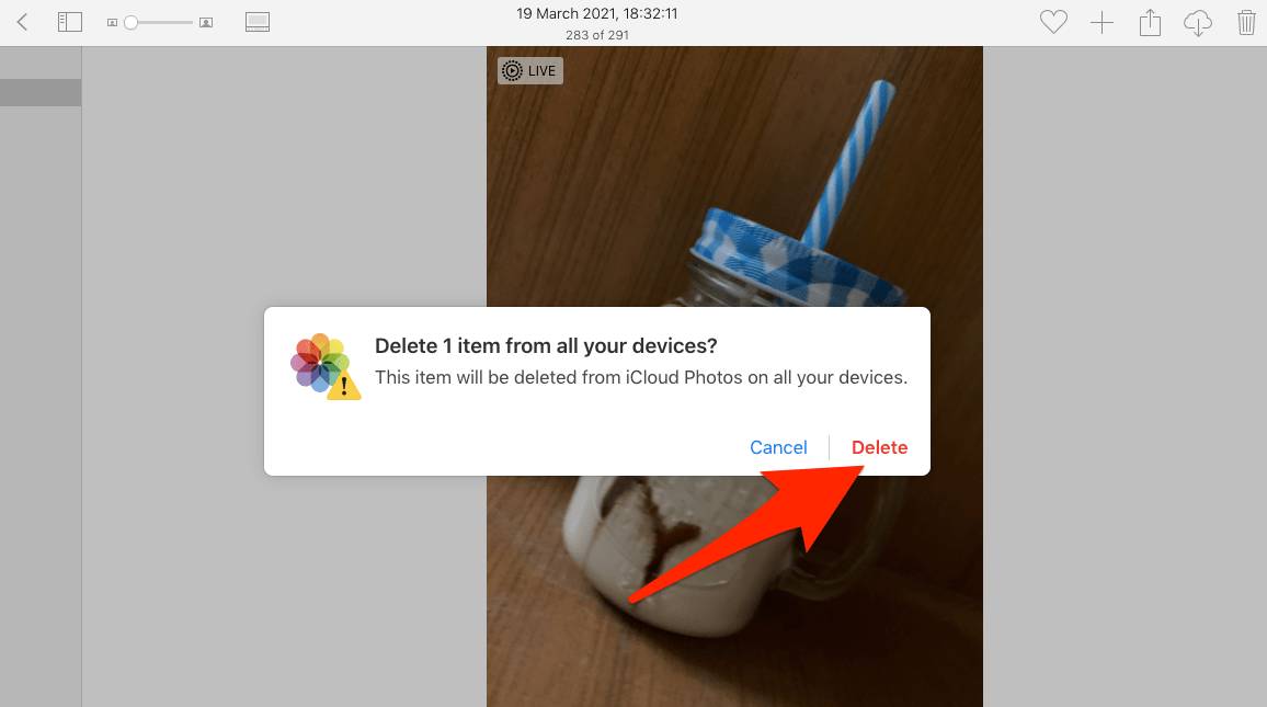 Delete Photos from iCloud Drive Storage