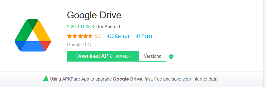 Download Google Drive from APKpure