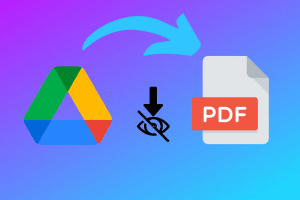 How to Download Protected PDF from Google Drive?