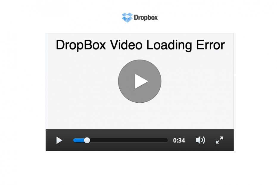 DropBox Videos Not Working