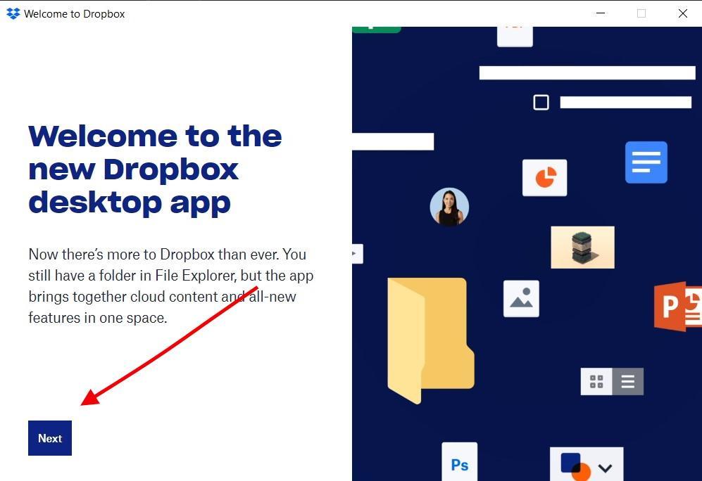 Dropbox app for Windows
