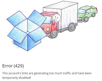 Error 429 Dropbox