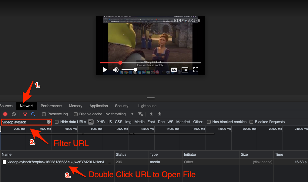 Filter Video URL to Play