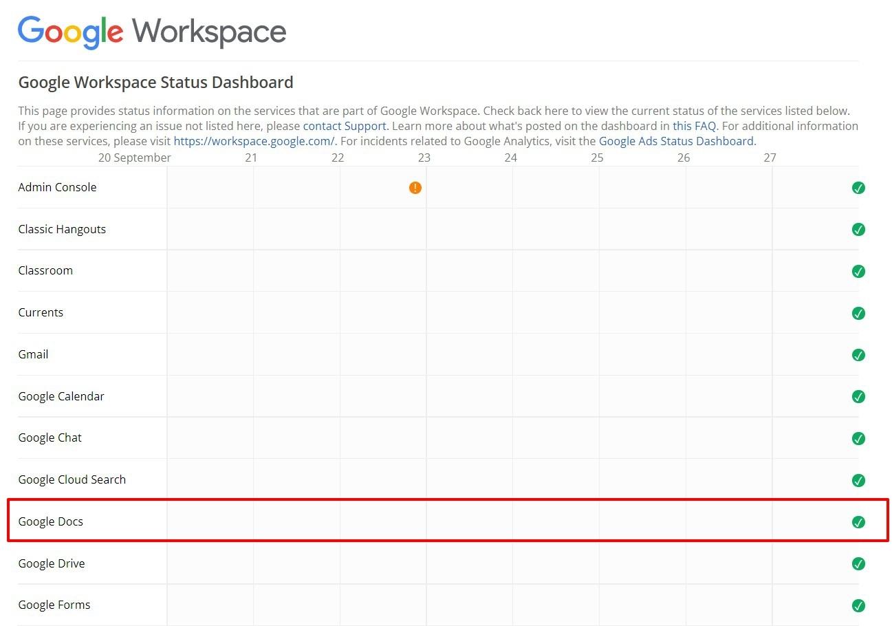 Google Dashboard Settings