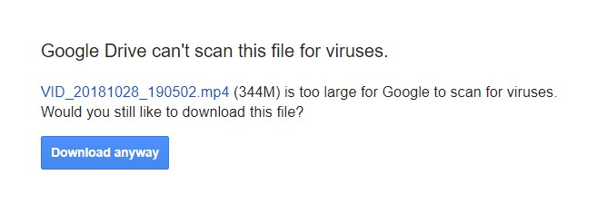 Google Drive Virus Scanner