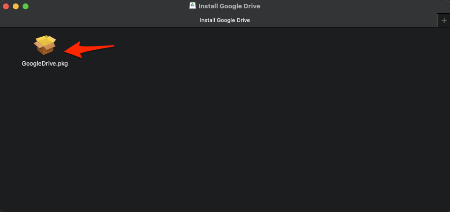 Google Drive PKG File
