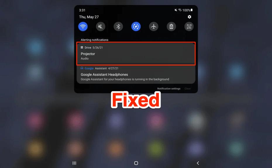 Google Drive Projector Audio Notification Fix
