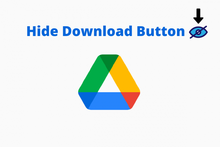Hide Google Drive Download Button for Shared Files