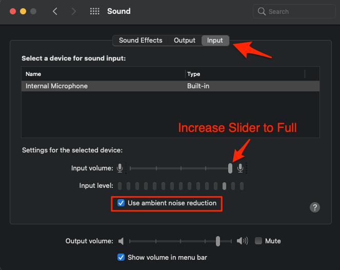 Increase Volume to Full