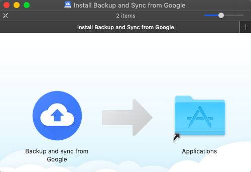 Install Google Backup and Sync on Mac