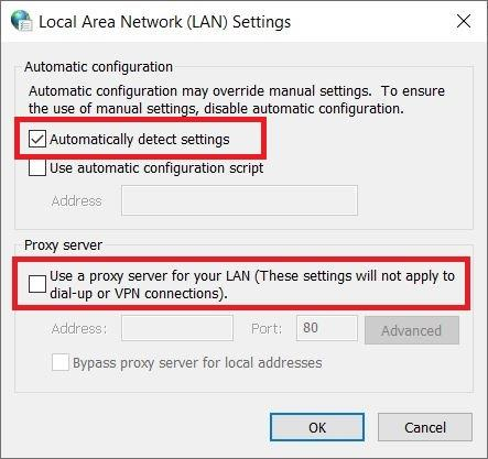 LAN Proxy Setting