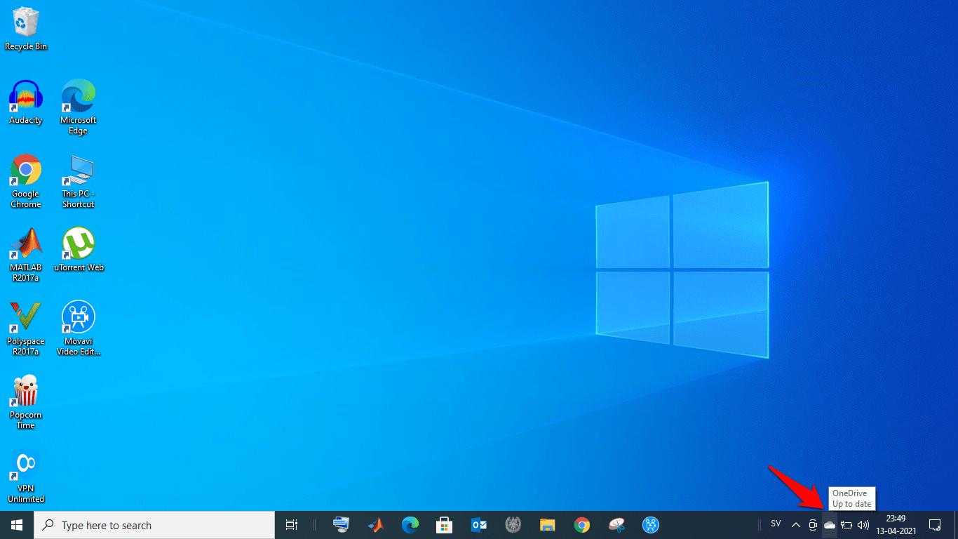 OneDrive Account in Windows Dock Menu