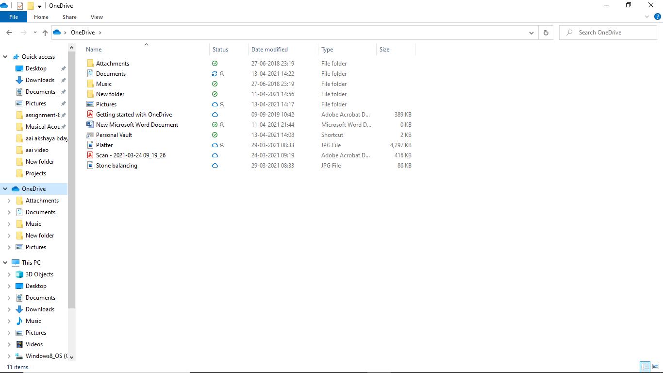 OneDrive Backup in Windows