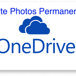 OneDrive Delete Photos Permanent