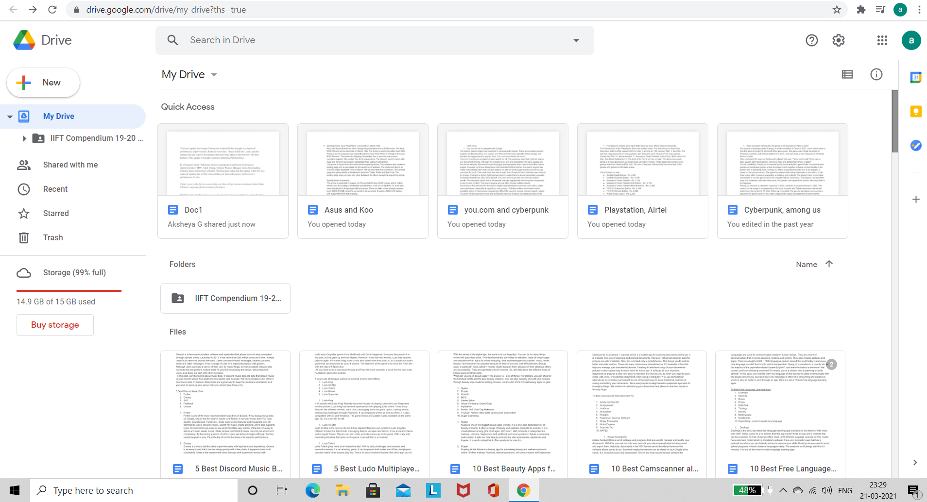 Open Google Drive on PC Browser