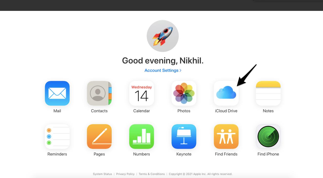 Open iCloud Drive