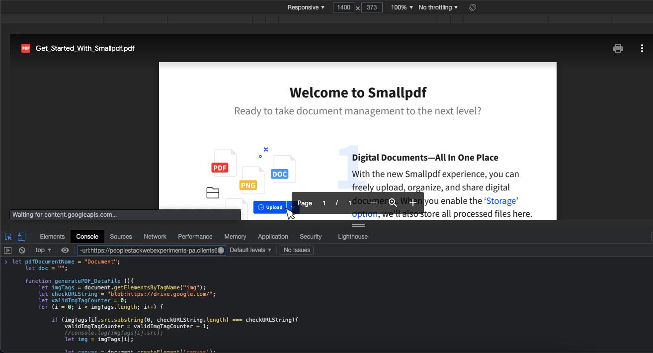 Paste the JS Code
