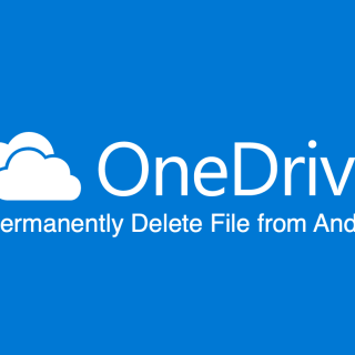 Permanently Delete File from OneDrive Android