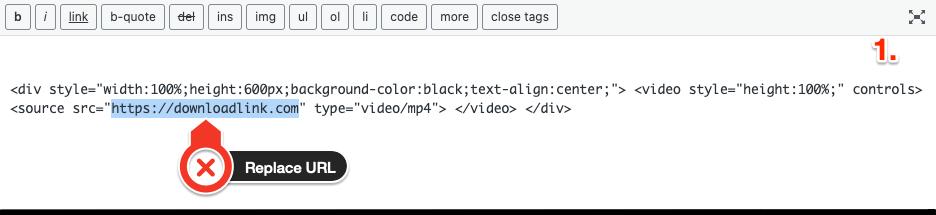 Replace URL