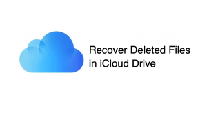 How to Restore Files Deleted from iCloud Drive?