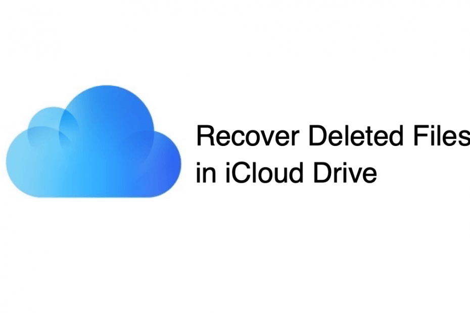 Restore Deleted Files in iCloud Drive