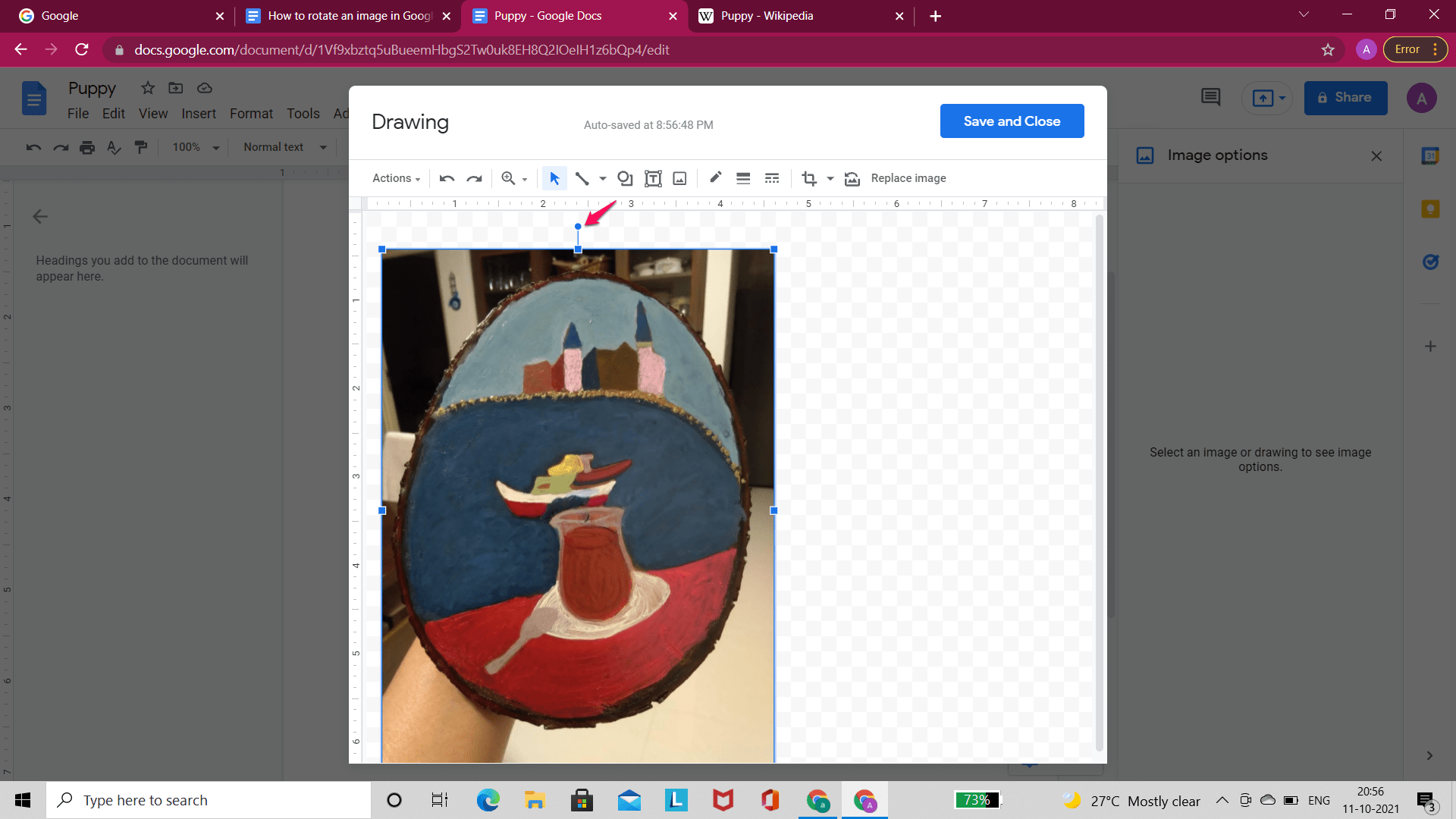 Rotate Image in Drawing