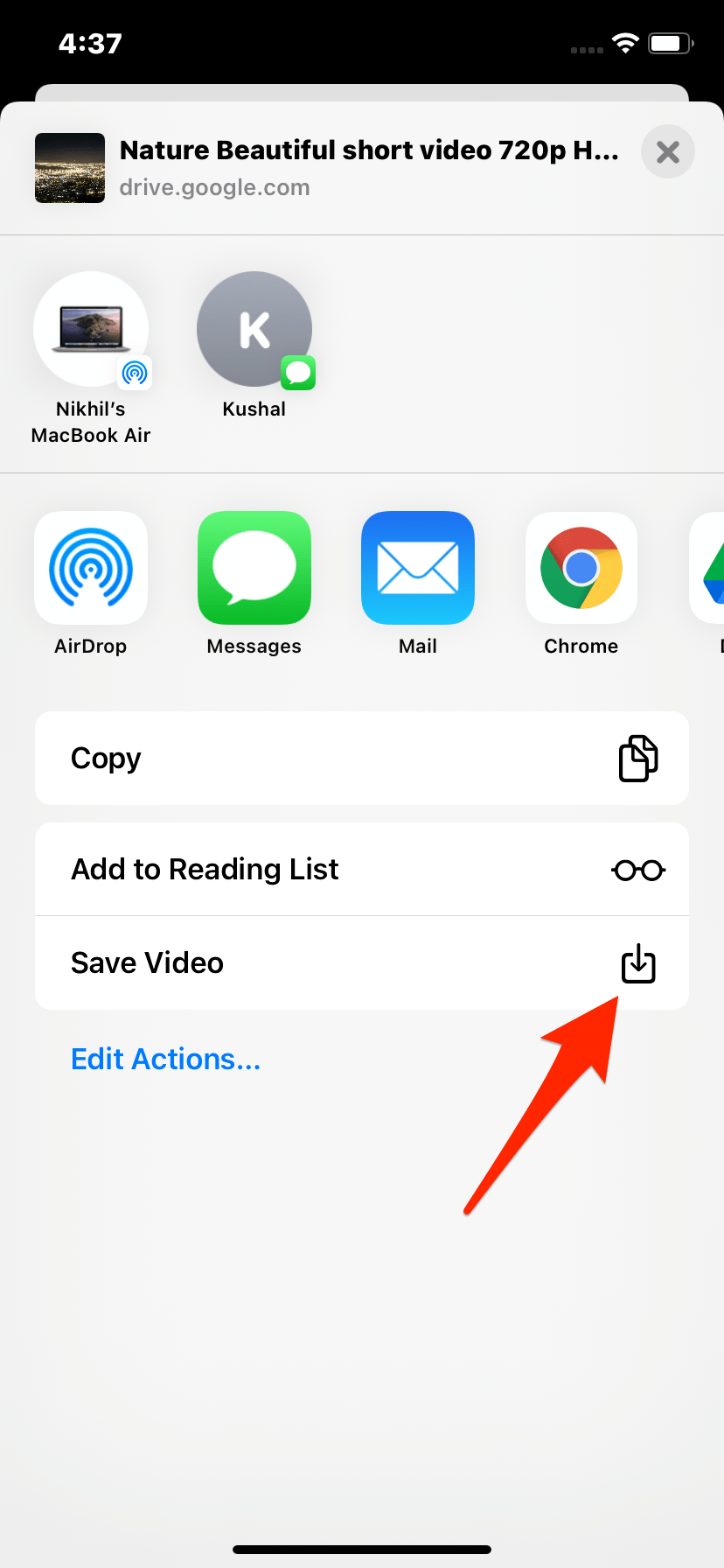 How to Download Google Drive Video to iPhone Camera Roll?