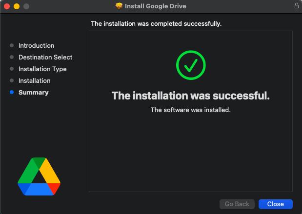 Install Google Drive on mac