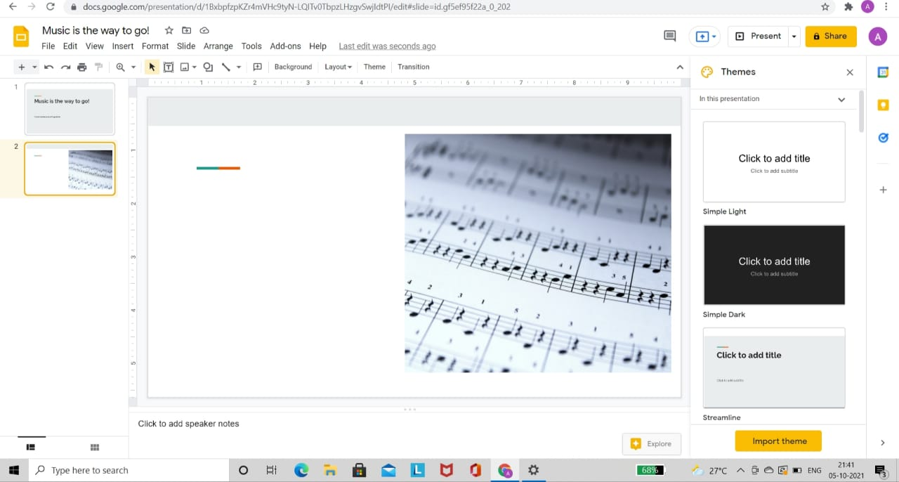 Select Slide to Insert Audio