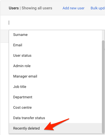 Select Recently Deleted
