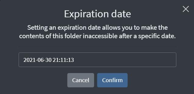 Set Expiry Date