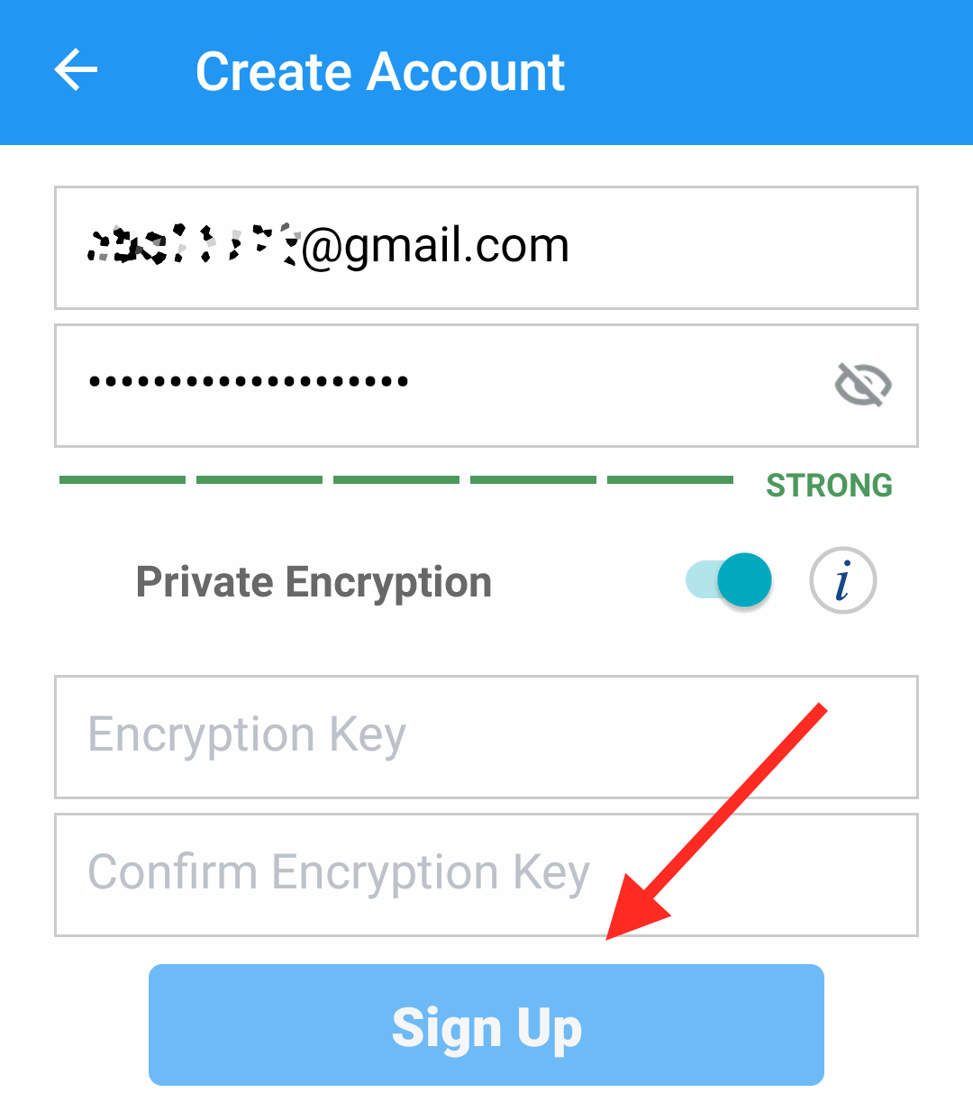 Sign Up with IDrive