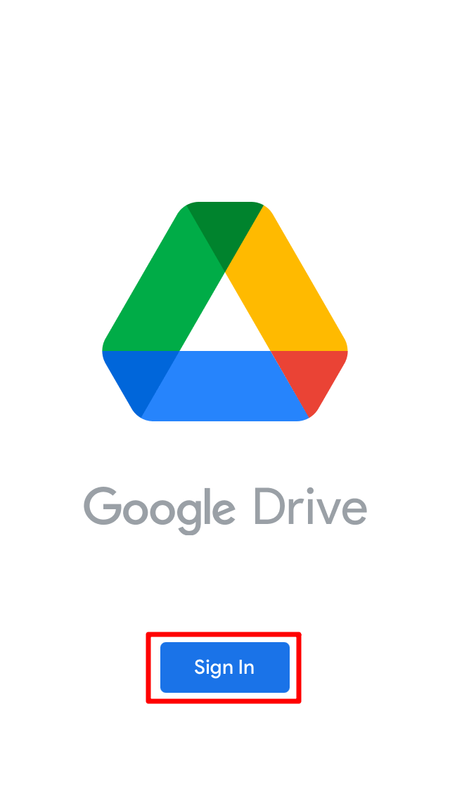 Sign in to GDrive
