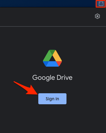 Sign in to Google Drive