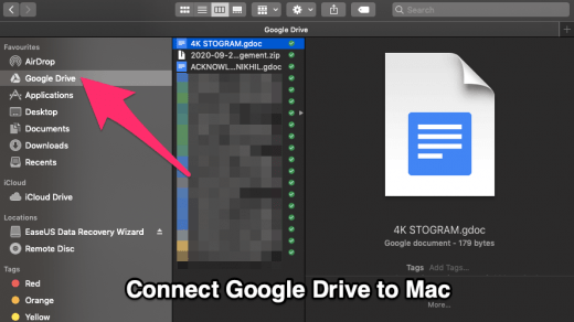 Sync Google Drive to macbook