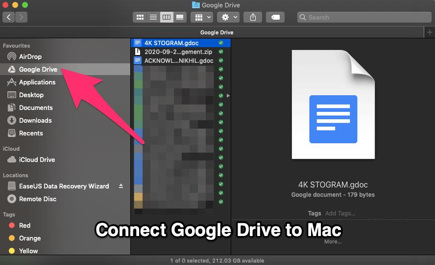 Sync Google Drive to macbook